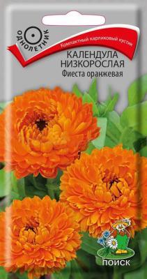 Календула низкорослая Фиеста оранжевая