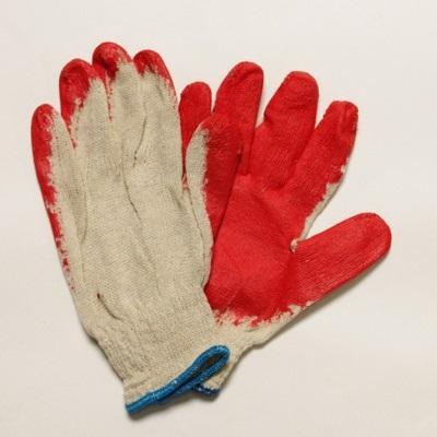 Перчатки х/б обливная ладонь