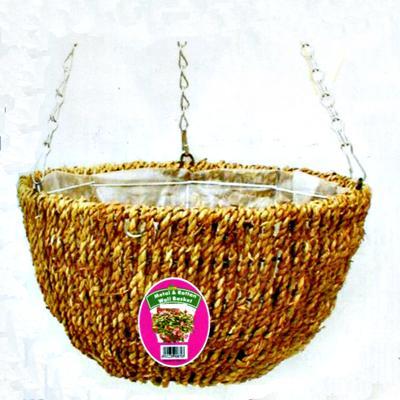 Корзина подвесная плетеная d 30 см