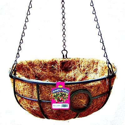 Корзина подвесная с кокосовым вкладышем d35см
