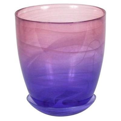 Горшок с поддоном Розово-фиолетовый