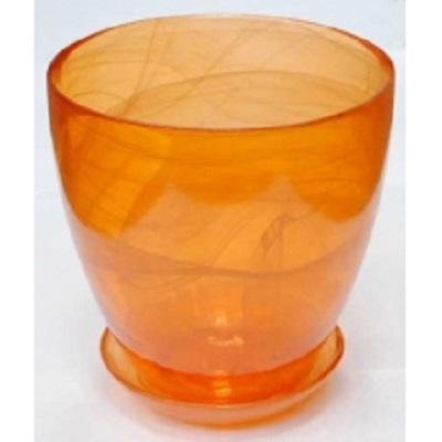 Горшок с поддоном Оранжевый