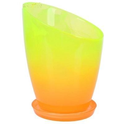 Горшок Шерон Желто-оранжевый с поддоном