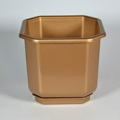 Горшок пластиковый Дама бронзовый