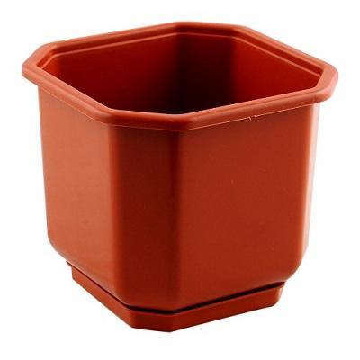 Горшок пластиковый Дама коричневый