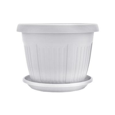 Горшок пластиковый Николь белый