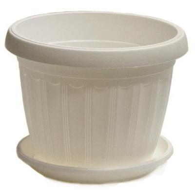Горшок пластиковый Терра белый