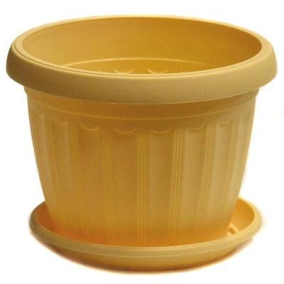 Горшок пластиковый Терра желтый