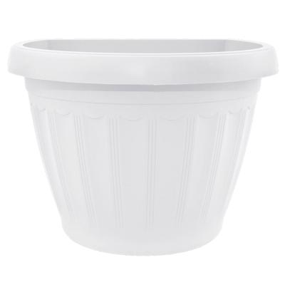 Горшок пластиковый Терра настенный белый