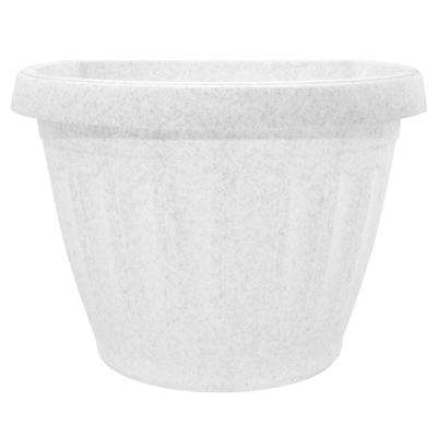 Горшок пластиковый Терра настенный мраморный