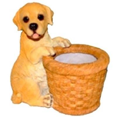 Кашпо Собака держит корзину