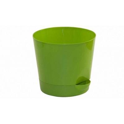 Кашпо пластиковое Ника ярко-зеленое