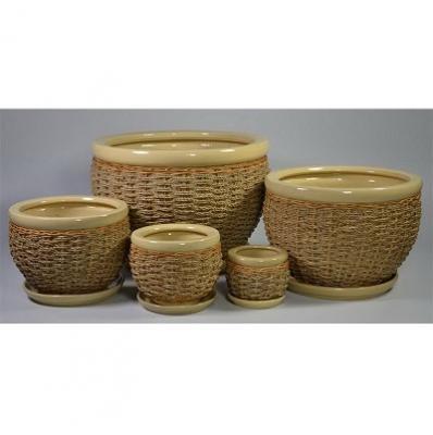 Комплект горшков плетенка № 2425