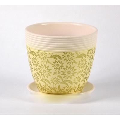 Горшок керамический Астра желтый крокус №2