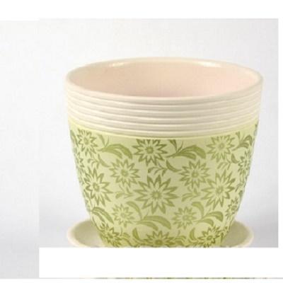 Горшок керамический Астра зеленый крокус