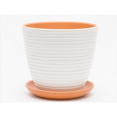 Горшок керамический Бриз белый крокус