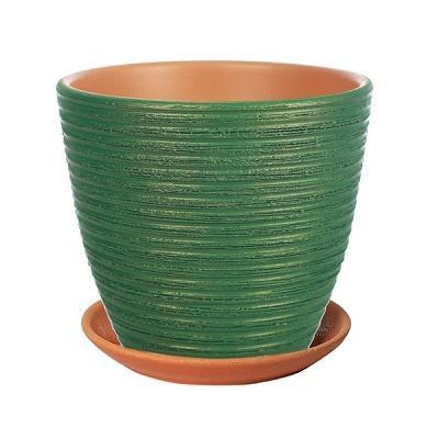Горшок керамический Бриз изумруд крокус