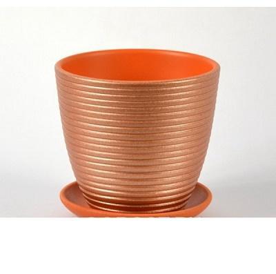 Горшок керамический Бриз какао крокус
