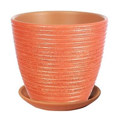 Горшок керамический Бриз медный крокус