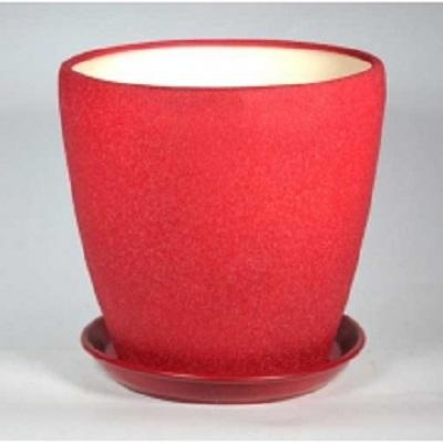 Горшок керамический Грация  (шелк бордо)