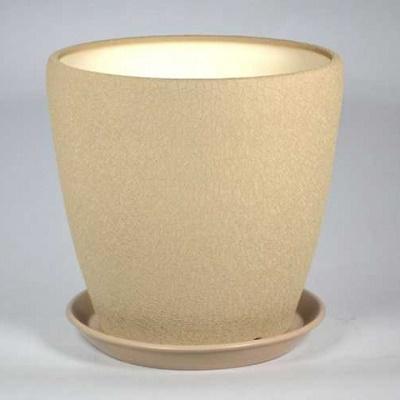 Горшок керамический Грация (шелк капучино)