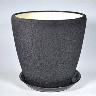 Горшок керамический Грация  (шелк черный)